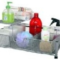 Wide Mesh Bathroom Drawer with Shelf and Divider